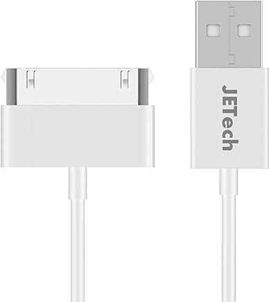 JETech Cavo per iPhone 4s 4, iPad 1 2 3, iPod, 30-Pin USB Cavo di Sync e Caricamento, 1m, Bianco