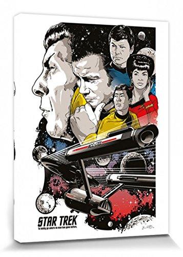 1art1 Star Trek - 50 Jahre, Wo Nie EIN Mensch Zuvor Gewesen Ist Bilder Leinwand-Bild Auf Keilrahmen | XXL-Wandbild Poster Kunstdruck Als Leinwandbild 80 x 60 cm