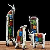 ZHQHYQHHX Decoración para el hogar Decoración del hogar Acentos Animales Sala Dormitorio Artículos de Decoración del Ornamento Artes creativos Regalos de cumpleaños 4pcs / Set Adornos