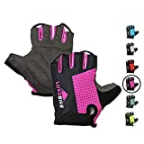 LuxoBike Cycling Gloves (Pink - Half Finger, M)