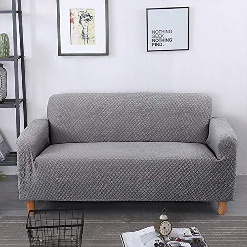 KTUCN Fundas de sofá, Funda de sofá Jacquard, Funda de sofá de Sala de Estar, Funda de sofá elástica elástica para Protector de Muebles, Gris, A-B 145-190cm