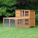 6ft Chartwell Double Luxury Guinea Pig Rabbit Hutch & Run Combo | Perfect Outdoor & Indoor Rabbit Hutch for 2 Rabbits Or Guinea Pigs | The Biggest Hutch Combo On Amazon