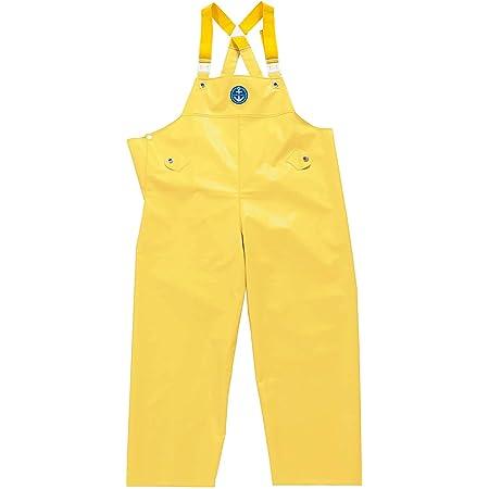 水産マリンレリー 胸付ズボン Mサイズ レモンイエロー 漁師のための専用合羽