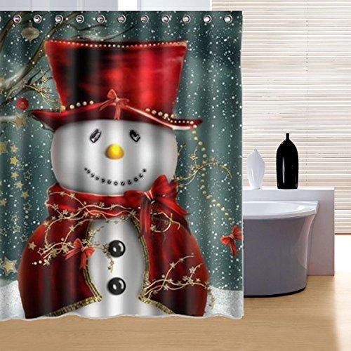 Big Bazaar Bazaar 150x180cm sneeuwman patroon waterdicht polyester douchegordijn badkamer Decor met 12 haken