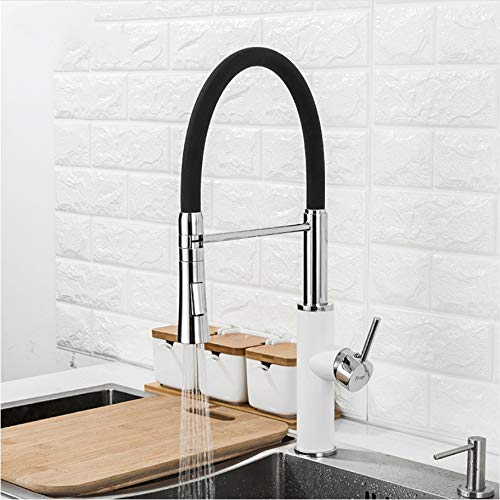 LLLYZZ Keuken waterkraan 2 functies uitloop keuken mixer waterkraan koud en warm water wastafel waterkraan pull onder waterkraan