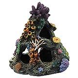 Hieefi Coral Artificial, Plantas del Acuario, Acuario Decoraciones, Acuario Artificial Coral Fish Tank Resina Montaña De La Roca De La Cueva Adornos Decoración Fish Tank