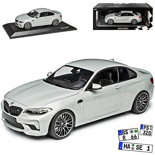 B-M-W 2er F22 M2 Competition Coupe Silber Grau Metallic Modell Ab 2013 Version Seit 2019 limitiert 1 von 504 Stück 1/18 Minichamps Modell Auto