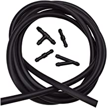 BUENNUS Car Windshield Washer Fluid Hose Kit,200cm (78.8inch) Windshield Sprayer Hose Windshield Jet Spray Wiper Hose Replacement with 4pcs Black Connectors to Connect Car Water Pump and Nozzles