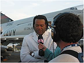 Stargate SG-1 Christopher Judge as Teal'c Talking to Reporter by Navy Plane 8 x 10 Inch Photo