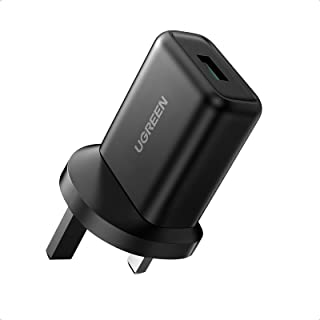 UGREEN QC 3.0 Wall Charger 18W Fast USB Charger Plug Travel Adapter Quick Charge compatible for New iPad 9,iPad mini 6, iP...