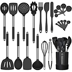 commercial Silicone kitchen utensils set, fan gun non-stick kitchen utensils kitchen utensils set, 24 pieces, heating … cooking utensils