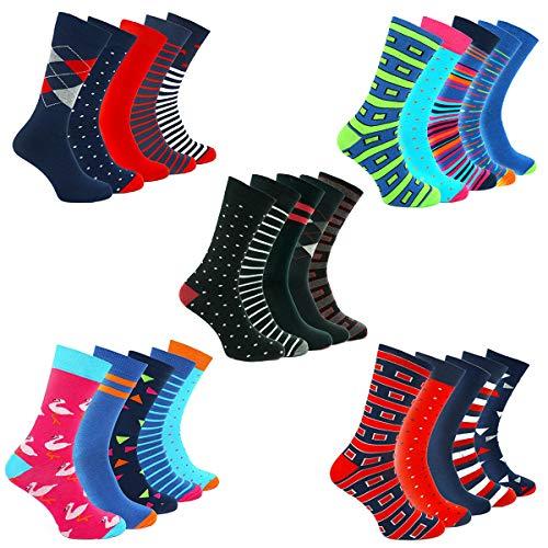 TWO LEFT SOCKS Kleurrijk patroon Premium Fashion Sokken in geschenkdoos, 5 paar, uniseks. Katoenrijke Europese kwaliteit, vele ontwerpen en maten