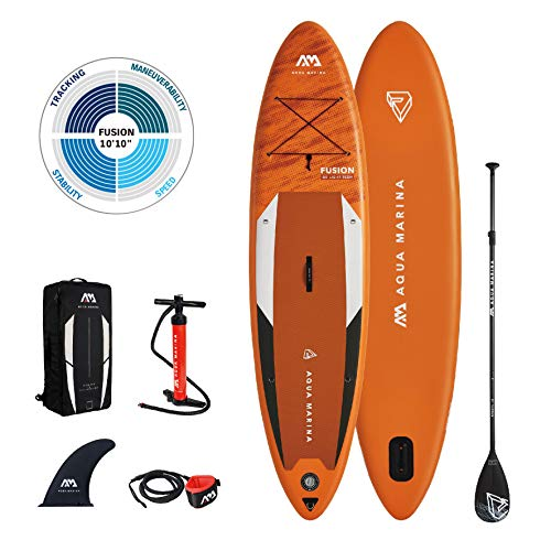 "Aqua Marina Stand Up Paddle Board - FUSION 10'10"" - Inflatable SUP Package 2021"