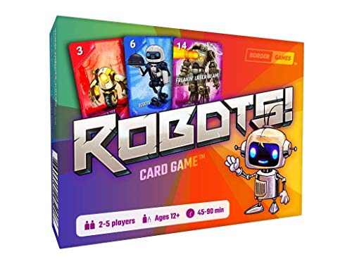 Robots! Card Game, a Fun New Twist on The Classic Card Game Rummy - 2-5 Players Age 12 and Older - Family-Friendly Games - Card Games for Adults, Teens, Friends