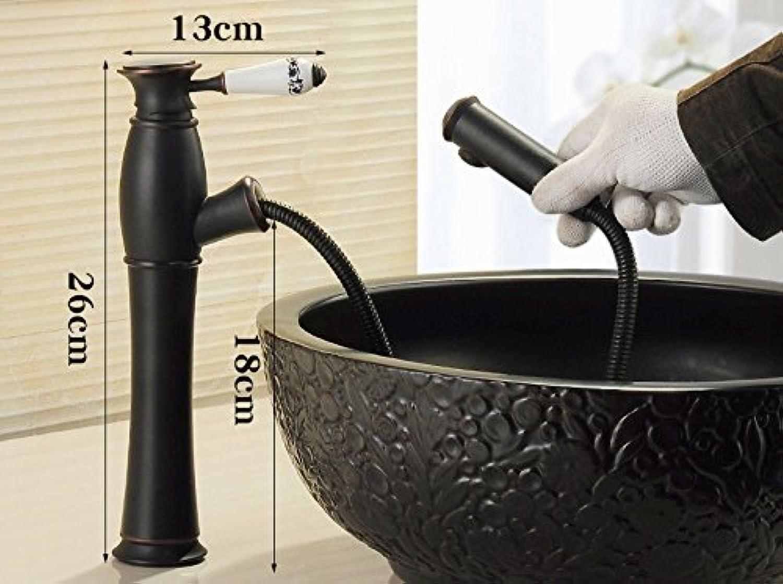 Bijjaladeva Antique Bathroom Sink Vessel Faucet Basin Mixer Tap Pull the tap full-scale copper cold water faucet bathroom faucet I