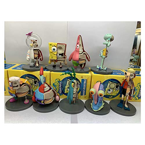 HAGENGOO 9 Tipos de Modelos Spongebob Squarepants PAI Daxing Crab Boss Half Planer Figure