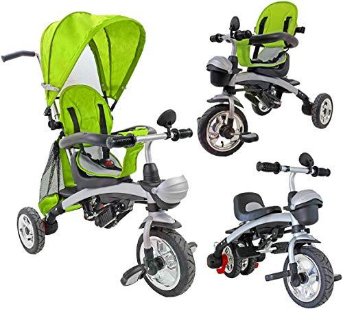 BC Babycoches-Triciclo evolutivo para niños, 3 en 1, multiposicion, con Capota y Manillar.