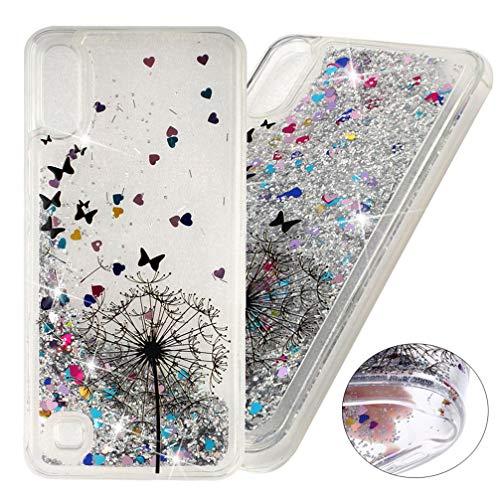 COTDINFOR Samsung Galaxy A10 Fundas Líquido Glitter Sparkle Bling Quicksand Funda Caso Silicona Blanda Protectora Carcasa para Samsung Galaxy A10 Dandelion XYLS.