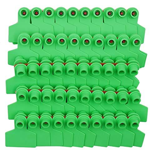 Farm & Ranch Lot de 100 étiquettes vierges en plastique TPU pour oreilles de cochon - Jaune, vert, jaune, bleu (vert)