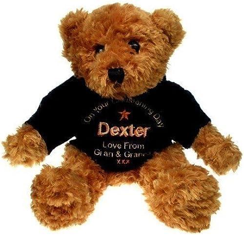 braun Christening Teddy Bear for a Boy
