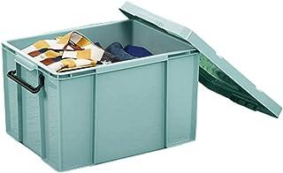 WUHE Boîte de Rangement Stockage Boîte en Plastique avec Couvercle Épaissie Paniers Organisateur Conteneurs for Les Vêteme...
