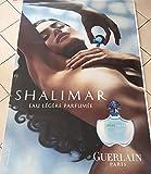 AFFICHE - Guerlain \ Eau Légère SHALIMAR - 120x175 cm - AFFICHE / POSTER