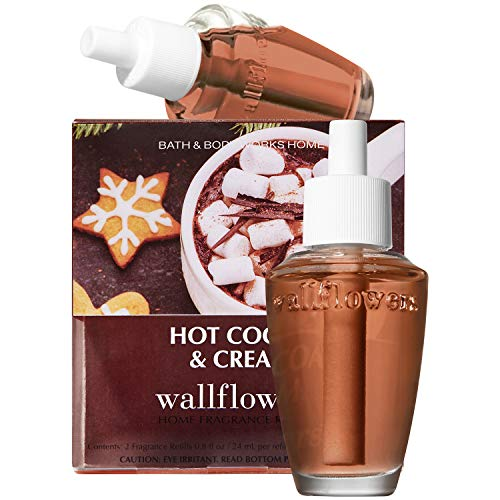 Bath and Body Works HOT COCOA & CREAM Wallflowers Refills, 2-Pack