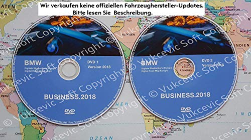 B M W DVD Road Map Europe Business 2018 DVD1 + DVD2