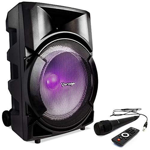 bocina karaoke bluetooth de la marca Vorago