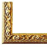 Bilderrahmen Mantova Gold 3,1 - LR - DIN A0 (84,1 x 118,9 cm) - 500 Varianten - alle Größen - handgefertigt - Galerie-Qualität - Antik, Barock, Modern, Shabby, Landhaus - Fotorahmen Urkundenrahmen Posterrahmen