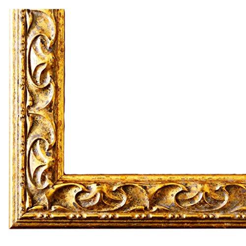 Bilderrahmen Mantova Gold 3,1 - LR - 30 x 40 cm - 500 Varianten - alle Größen - handgefertigt -...