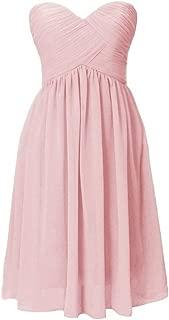 H.S.D Women's Sweetheart Chiffon Bridesmaid Dress Short Party Gowns
