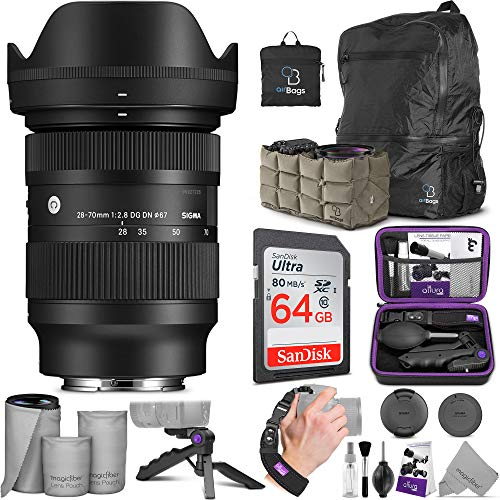 Sigma 28-70mm f/2.8 DG DN Contemporary Lens for Sony E Mount with Altura Photo Advanced Accessory and Travel Bundle