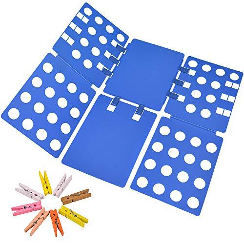 Geniusidea V1 Shirt Folding Board t Shirts Clothes Folder Durable Plastic Laundry folders Folding Boards flipfold