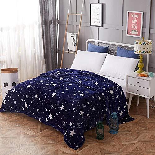 Star Tagesdecke Decke hohe Dichte super weiche Flanelldecke Sofa / Bett / Auto tragbar-Star_120 x 200 cm