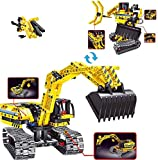 M&Ostyle STEM Toy Building Sets for Boys Girls 8-12 Construction Engineering Kit Builds Excavator or Robot (2in1) STEM Building Toy Set for Kids - Ages 8 9 10 11 12 Years Old, Boy Toys Gift