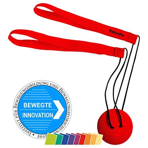 TwistFit® original u. patentiert - Fitness-Studio im Taschenformat Rot