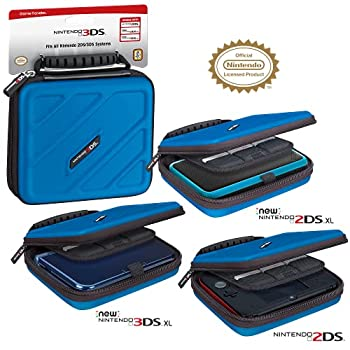 Officially Licensed Hard Protective 3DS Carrying Case - Compatiable with Nintendo 3DS 3DS XL 2DS 2DS XL New 3DS 3DSi 3DSi XL - Includes Game Card Pouch