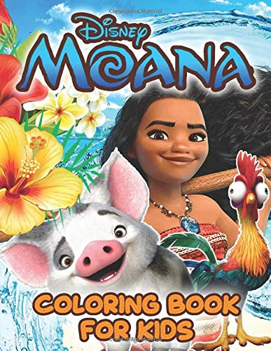 Moana Coloring Book For Kids: Jumbo Coloring Book with Moana, Maui, and other favorite characters