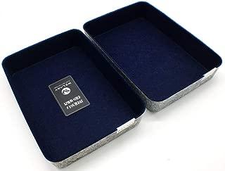 $24 » Welaxy Office Supplies Drawer Organizers Trays Storage Bins Drawers dividers Storage Bins (Navy x 2)