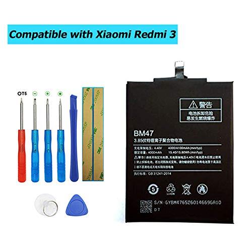 Upplus BM47 - Batería de Repuesto Compatible con Xiaomi Redmi 3 con Kit de Herramientas