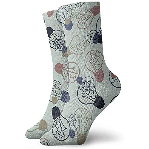 Glühlampen-Art-Gehirn-Söckchen-beiläufige gemütliche Mannschafts-Socken für Männer, Frauen, Kinder