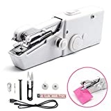 Jacriah Handheld Sewing Machine Sewing Machine Mini Handheld Electric Sewing Machine not only for Kids Beginners Quick Handy Stitch for Fabric Clothing Kids Cloth Pet Clothes