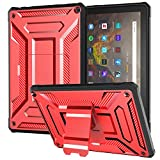 All-New 10.1 Inch Tablet Case and Covers (Compatible 11th Generation, 2021 Release), DJ&RPPQ Anti Slip Shockproof Light Weight Protective Cases - Red