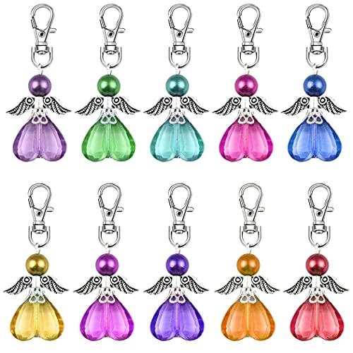 Daimay Juego de 20 colgantes de perlas de ángel de la guarda para invitados baby shower decoraciones de boda, regalos de recuerdo – 10 colores al azar estilo 6