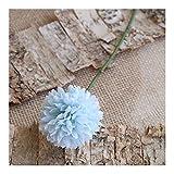 Lifelike 5 bolas artificiales de alta calidad con diente de león para el hogar, boda, decoración de flores falsas, accesorios románticos (color: azul cielo)
