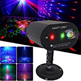 Disco DJ Lights Party Lights Laser Light + LED Light 2 in 1 Sound Activated with Remote Control Various Patterns Projector Effect for KTV Bar Club Birthday Parties Christmas Holiday