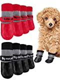 Weewooday 8 Pieces Dog Socks Non Slip Paw Protector Waterproof Pet Sock with...