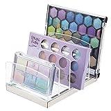mDesign Organizador de maquillaje en plástico – Clasificador con 5...