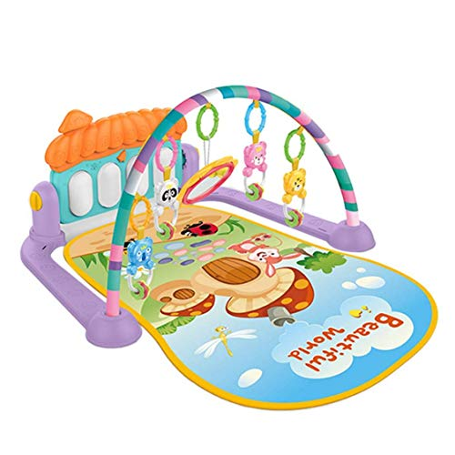 MYYINGELE Baby Gym Musical Play Mats for Floor, Kick and Play Piano Gym Activity Center Toys for Infants and Toddlers Aged 0 to 6 12Months Old